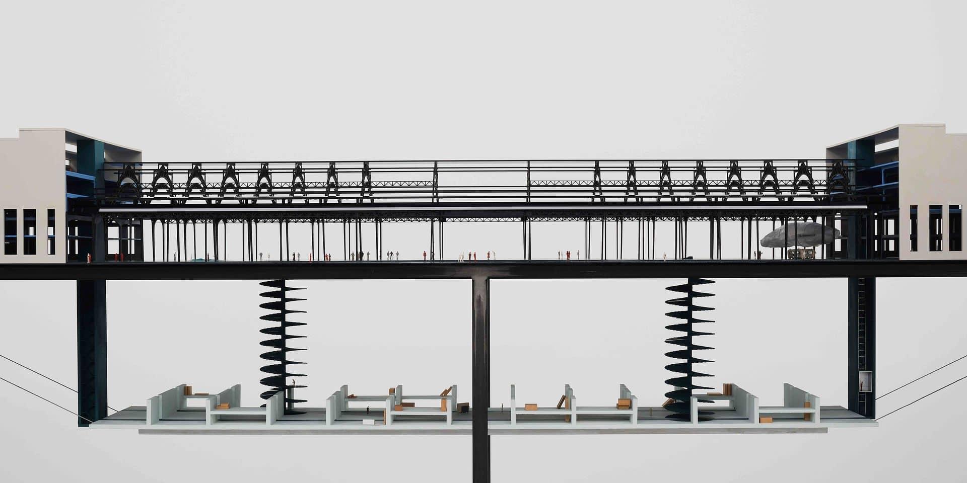 """La maquette du possible futur Smak, """"le musée et son double""""."""