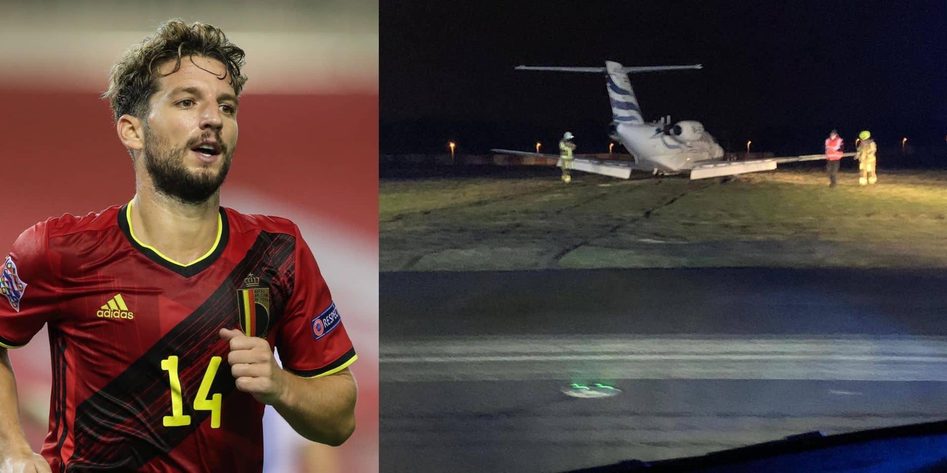 Une belle frayeur pour Dries Mertens: son jet-privé a eu un atterrissage difficile à Deurne