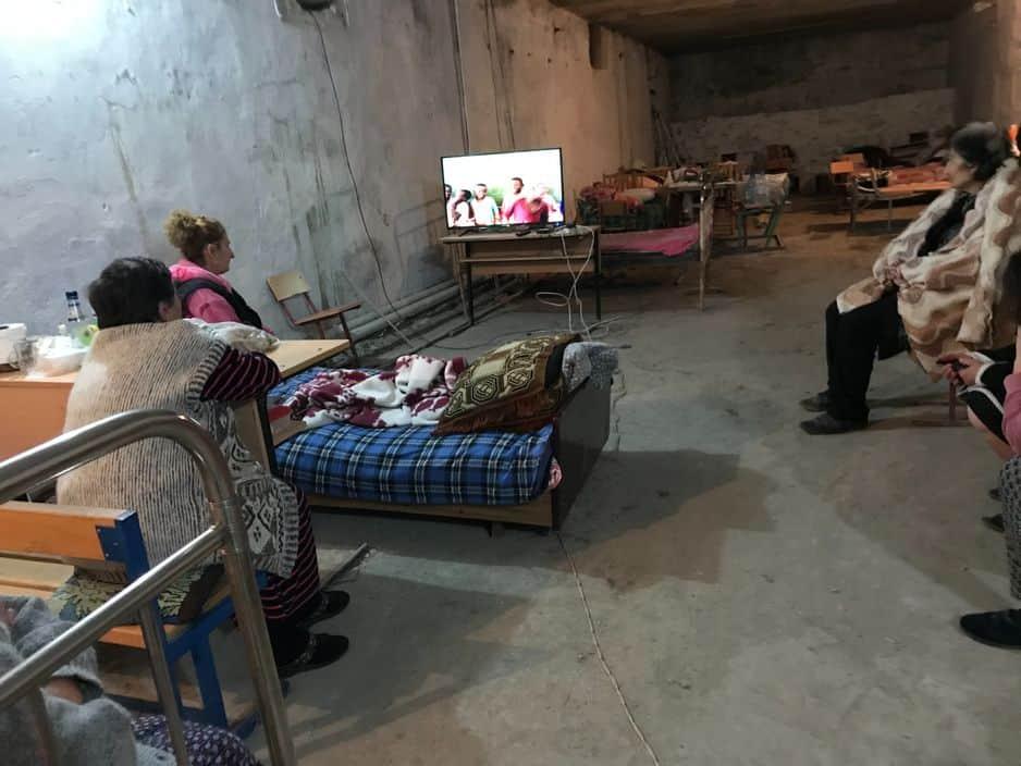 Dans un abri de Stepanakert