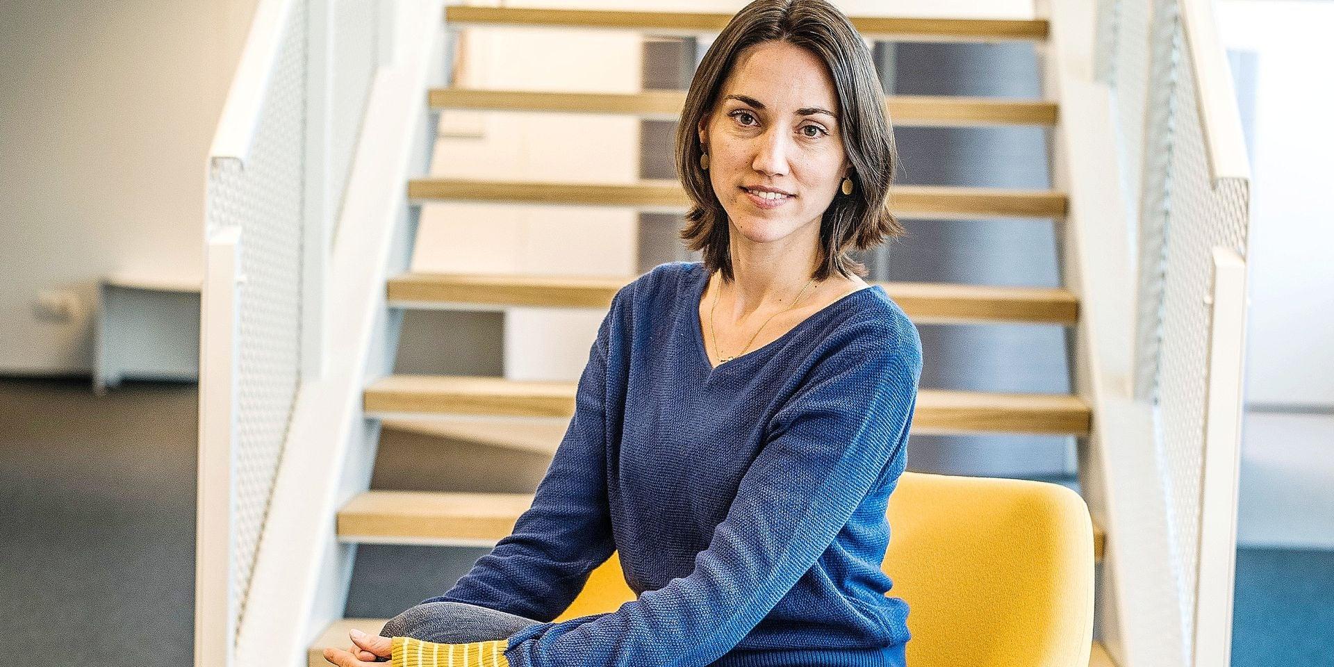 20190513 - BELGIQUE, BRUXELLES: Portrait Isabelle Grippa, directrice generale de Hub Brussels le 13 mai 2019. PHOTO OLIVIER PAPEGNIES / COLLECTIF HUMA
