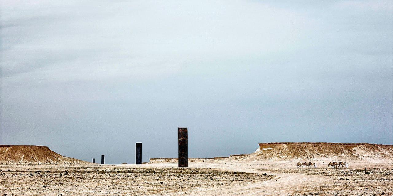 Desert Sculpture by Richard Serra