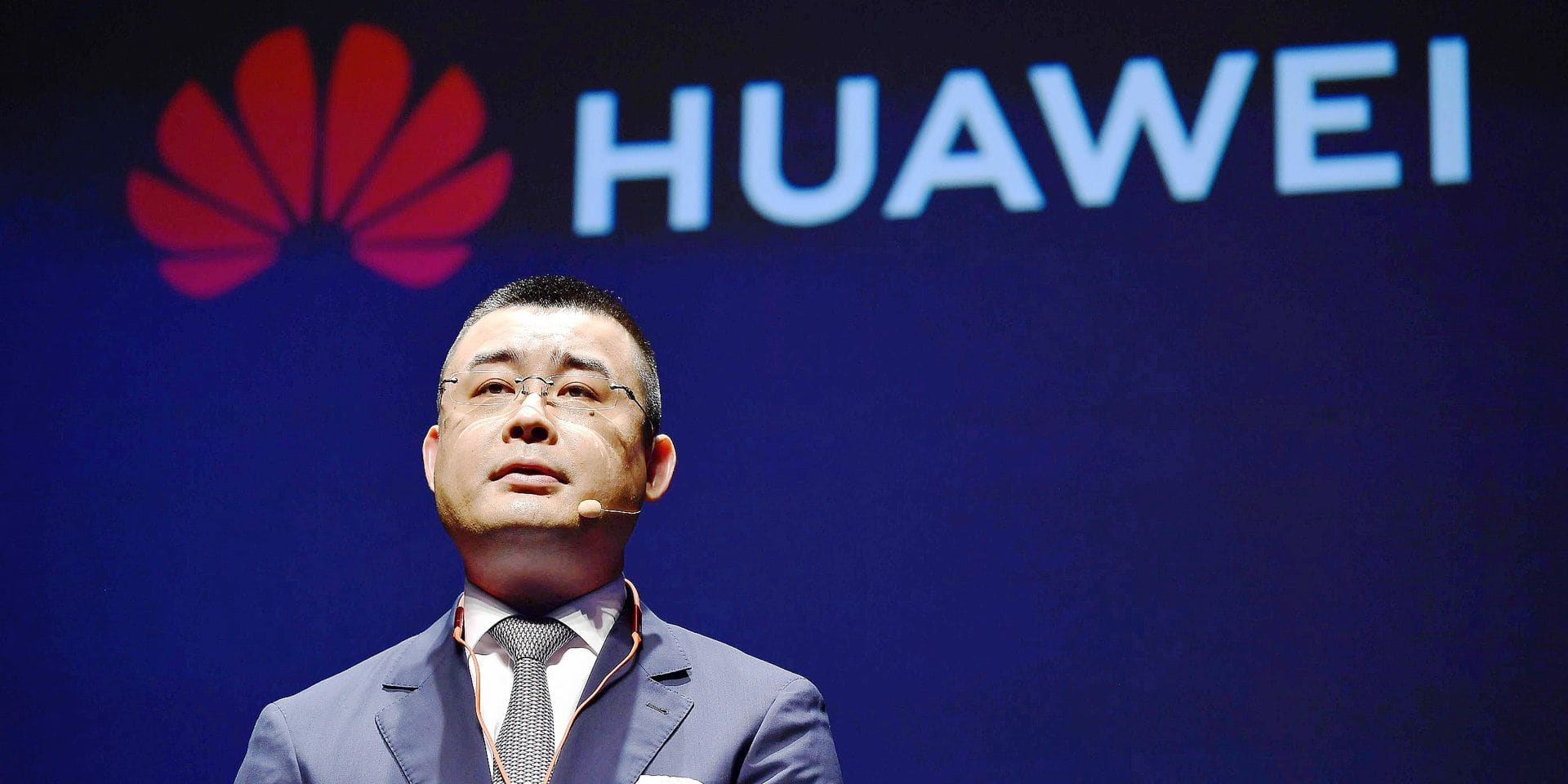 ©Kyodo/MAXPPP - 21/05/2019 ; Wu Bo, head of Huawei Device's Japan and Korea region, attends a press conference in Tokyo on May 21, 2019, on the new P30 Pro smartphone. (Kyodo) ==Kyodo