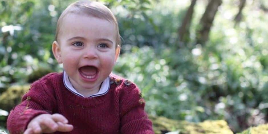 Le prince Louis, 1 an, comme vous ne l'avez jamais vu