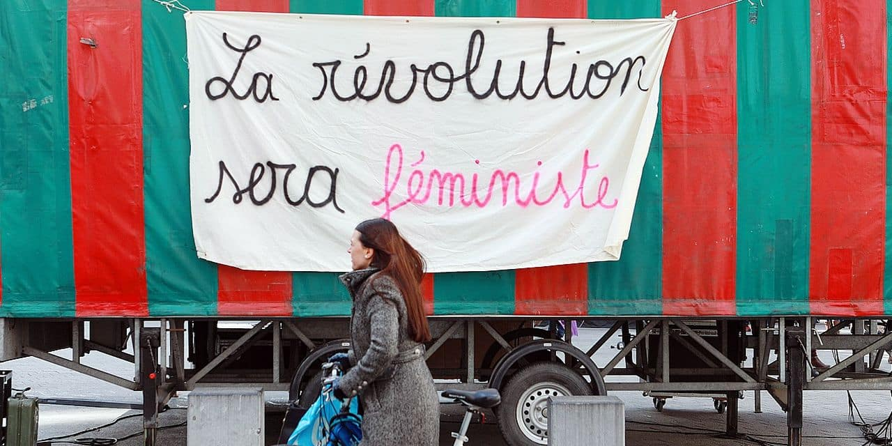 Illustration picture shows a Women's Strike in the streets of Brussels, Friday 08 March 2019, International Women's Day. BELGA PHOTO PAUL-HENRI VERLOOY