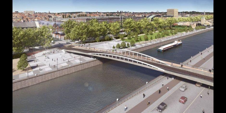 Le pont Suzan Daniel surplombera le canal de Bruxelles à partir de samedi