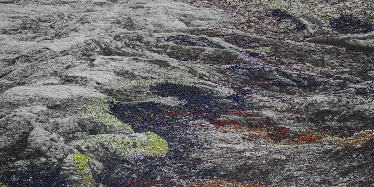 Les fils colorés des photos d'Hutegger