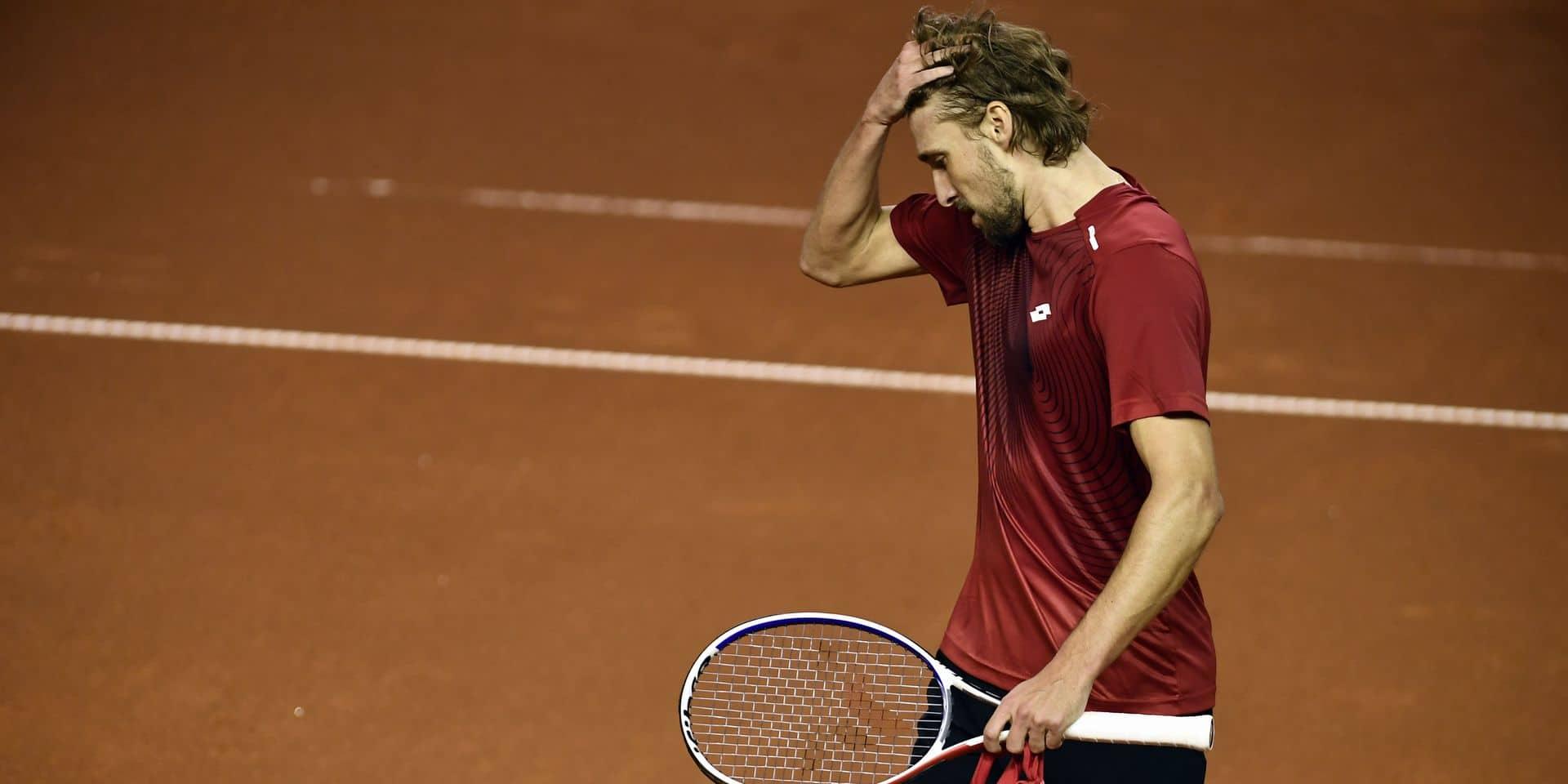 """La Belgique pas qualifiée en Coupe Davis : """"Des conséquences financières"""""""