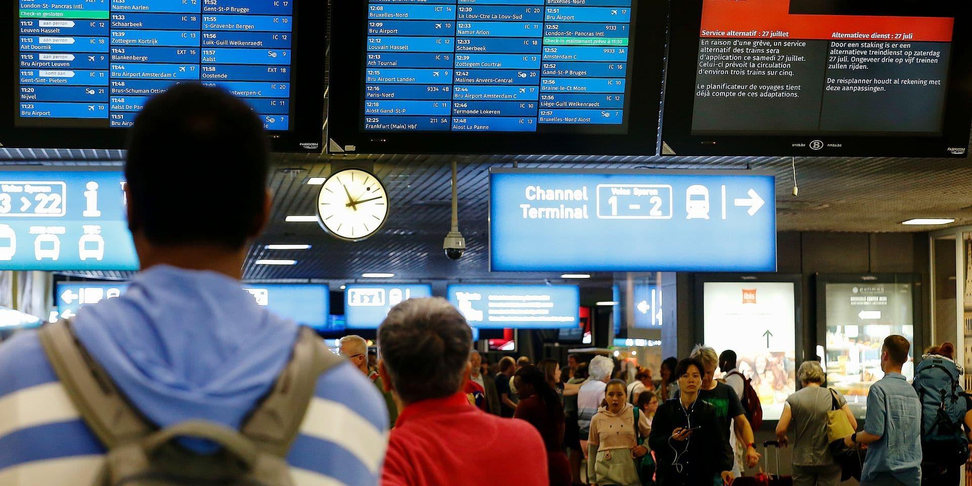 Les grèves ont coûté près de 5,7 millions d'euros à la SNCB en 2018