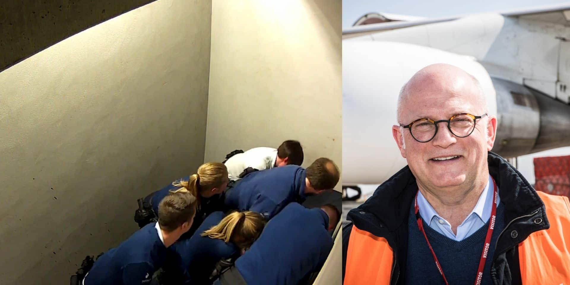 """Décès d'un passager dans une cellule de l'aéroport de Charleroi: """"Les fascistes n'ont pas leur place au sein de la police"""" pour Jean-Luc Crucke"""