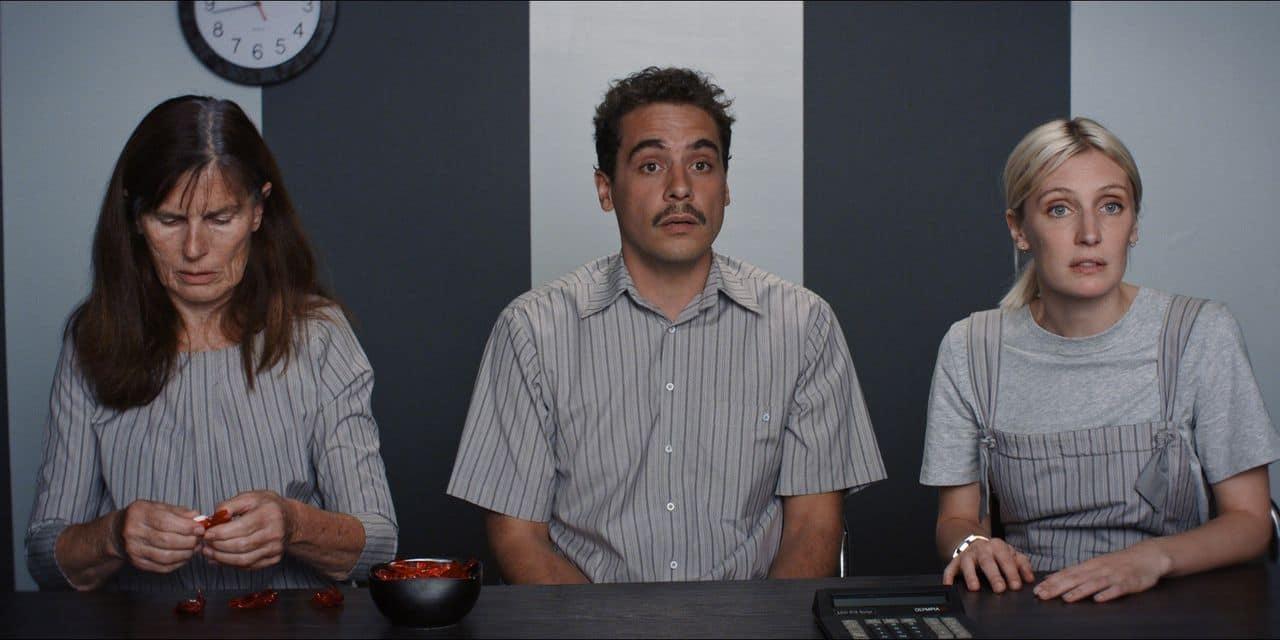 """Jo Deseure, Jean Le Peltier, Lucie Debay: le formidable trio d'""""Une vie démente"""", film qui marque l'ouverture de la 35e édition du Festival de cinéma francophone à Namur."""