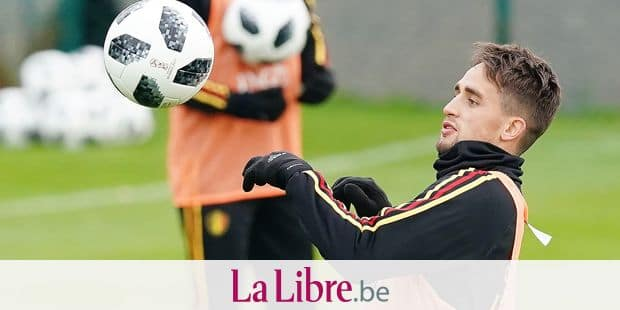 Adnan Januzaj pictured during a training session of Belgian national soccer team Red Devils, Sunday 12 November 2017, in Tubize. The team will be playing a friendly game against Japan on 14th November. BELGA PHOTO BRUNO FAHY