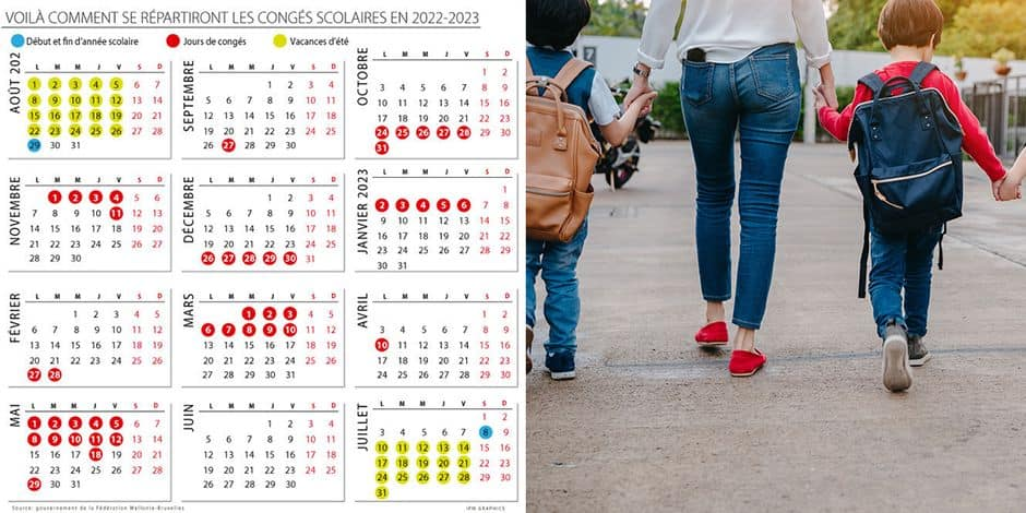 Calendrier Scolaire 2022 20 Réforme des rythmes scolaires : voici le calendrier de l'année
