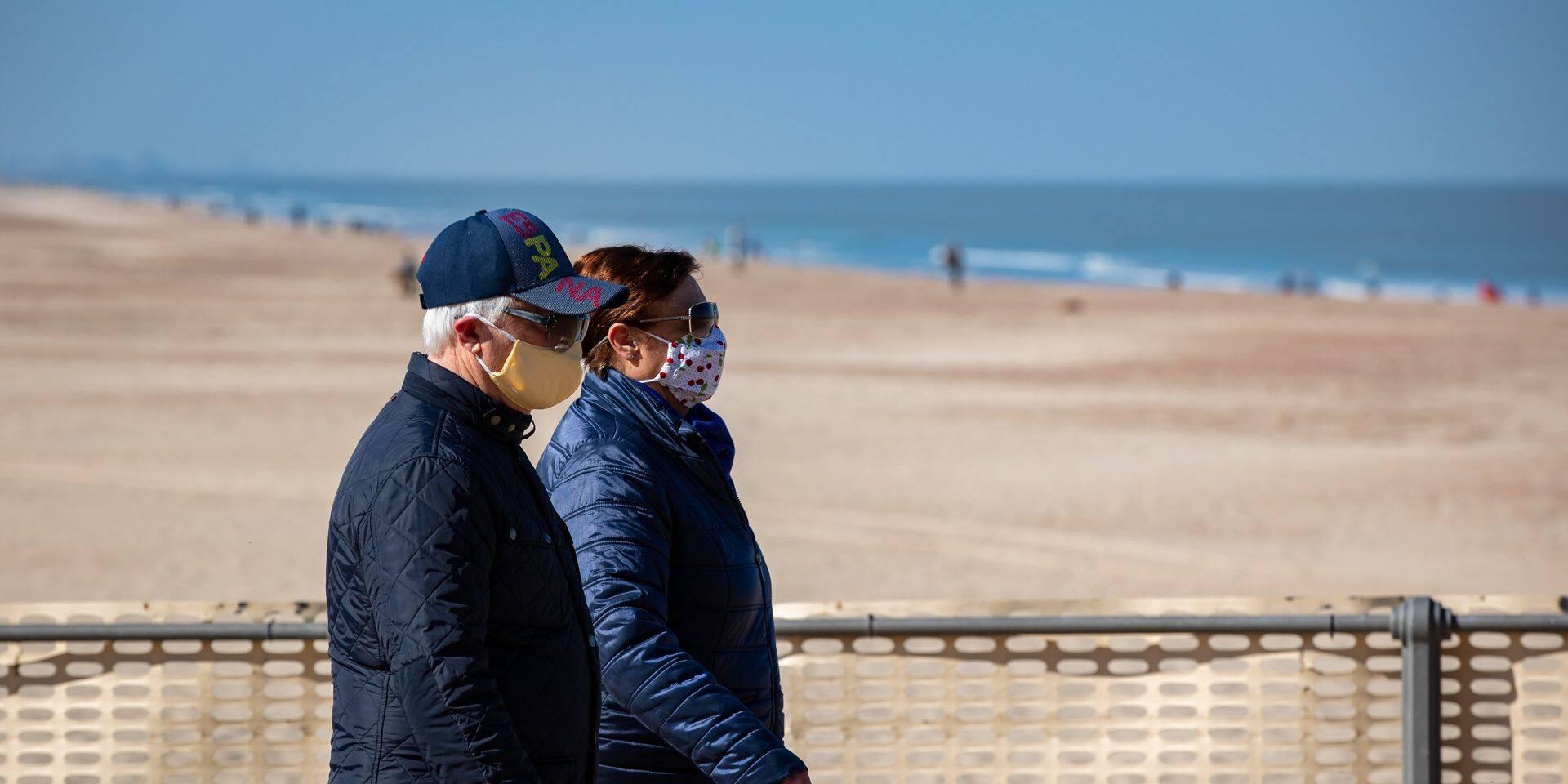 Le masque sera obligatoire sur la digue à la Mer du Nord durant les vacances de carnaval