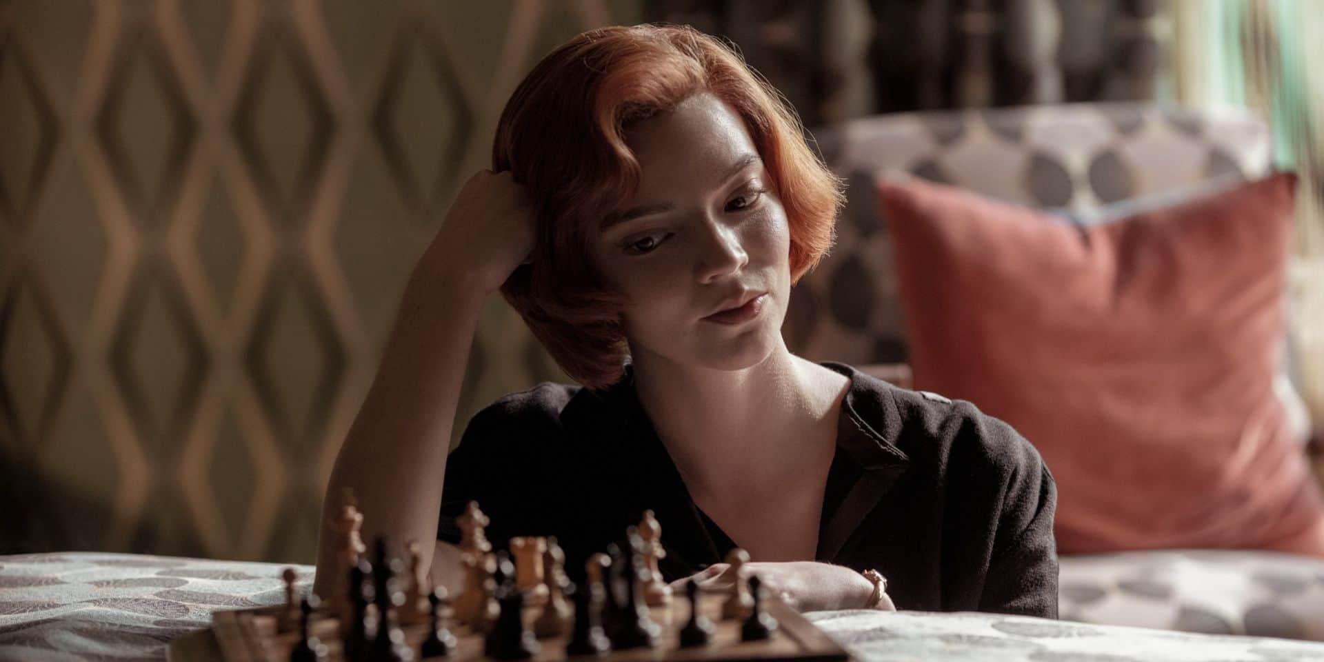 """Anya Taylor-Joy, étoile montante du cinéma, s'illustre dans la série Netflix """"The Queen's Gambit"""""""