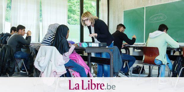 Verviers : à l' Institut Sainte-Claide, Daspa , un dispositif d' accueil et de scolarisation des élèves primo-arrivants. Une classe accueille des réfugiés