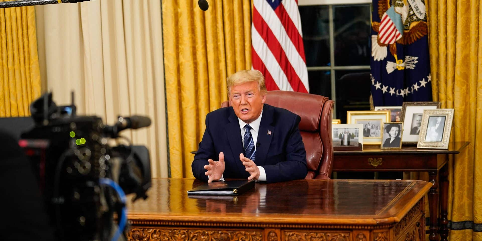 President Trump Addresses The Nation About The Widening Coronavirus Crisis - DC