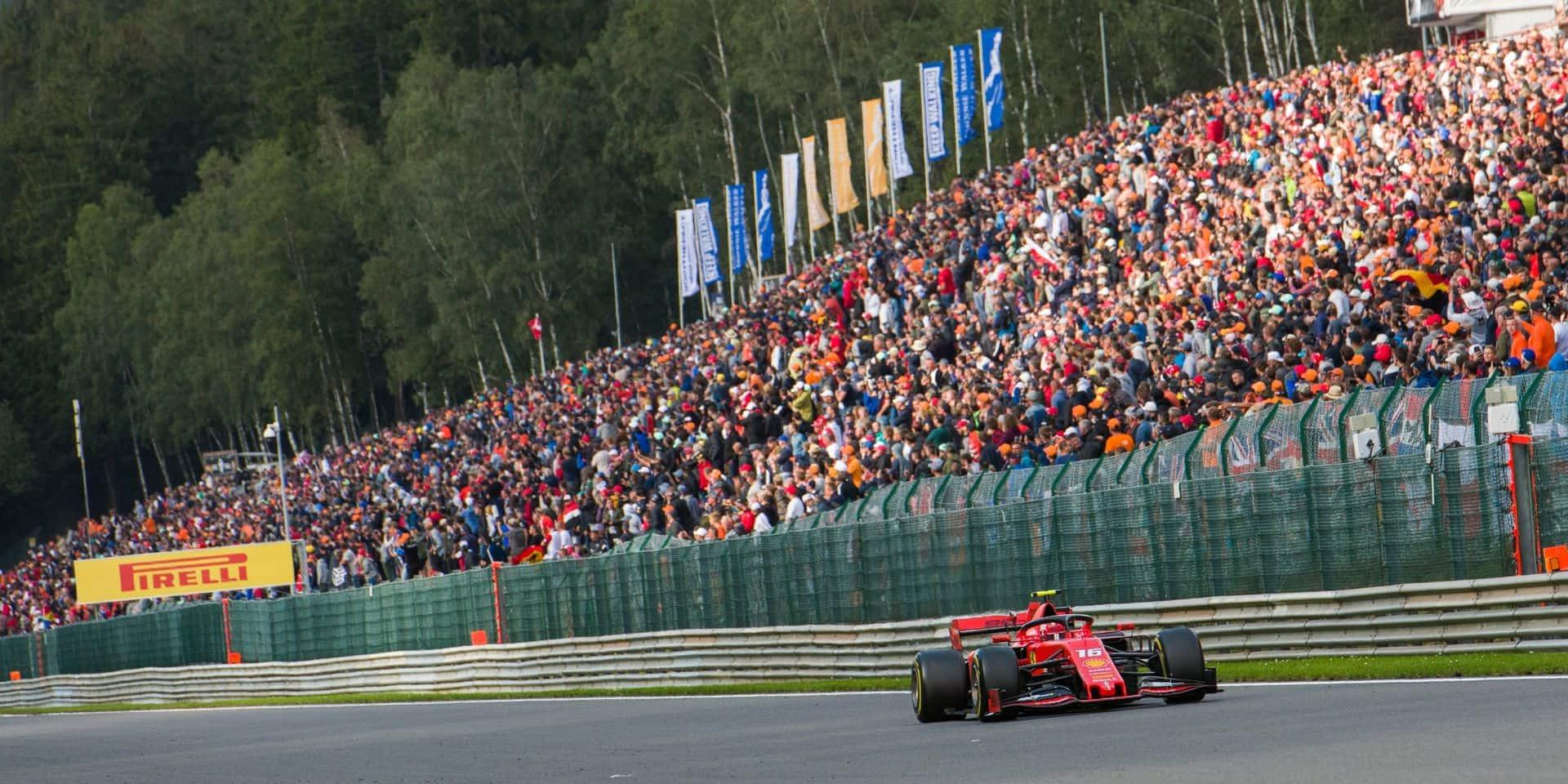 Huis clos confirmé pour le Grand Prix de F1 à Spa-Francorchamps le 30 août