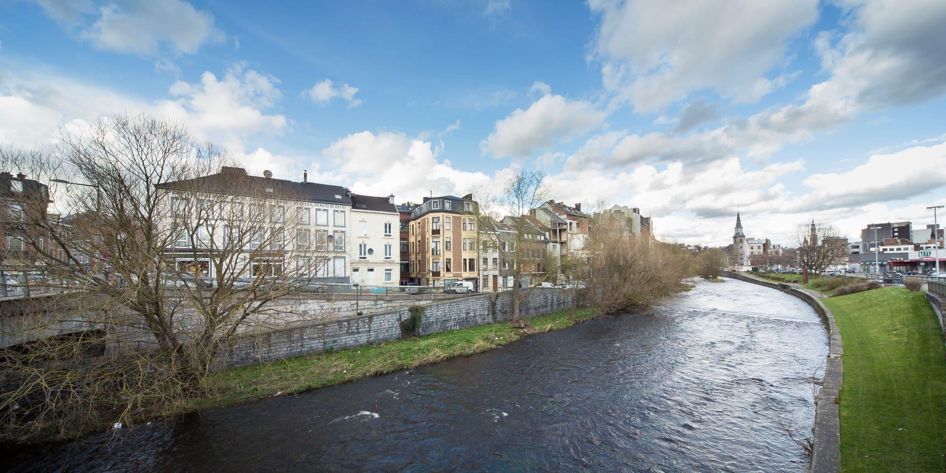 Verviers : la Vesdre à l'endroit où devrait s'implanter un futur centre commercial
