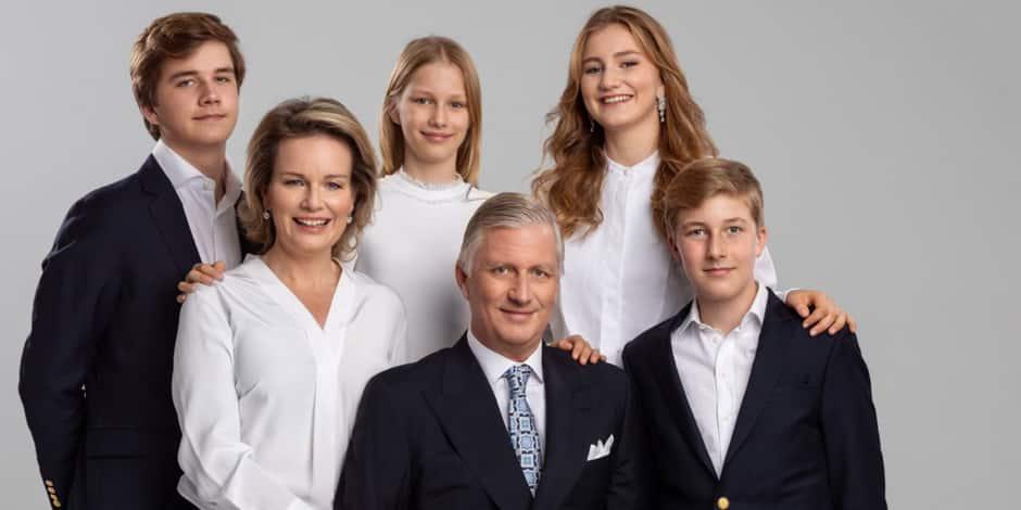 """La famille royale belge dévoile sa carte de voeux à l'approche d'une fête de Noël """"très particulière"""""""