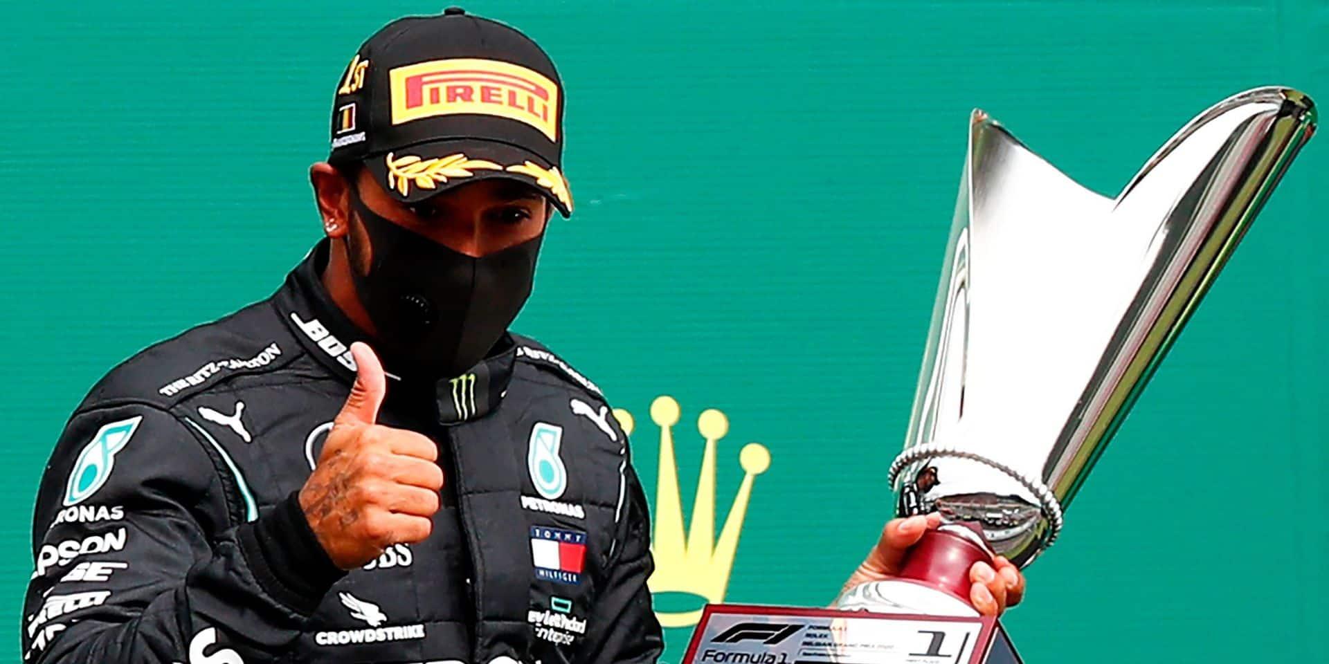 Lewis Hamilton vainqueur d'un GP de Belgique sans le moindre suspense, sans public et sans ambiance