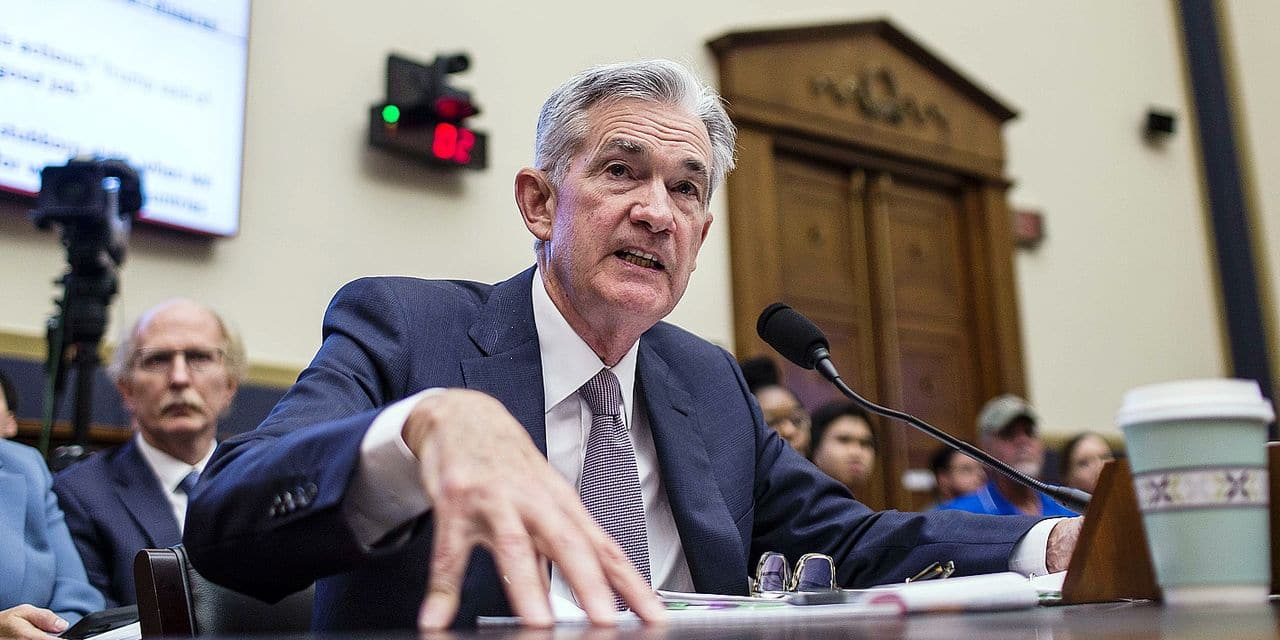 WASHINGTON, DC - JULY 10: Federal Reserve Chairman Jerome Powell testifies during a House Financial Services Committee hearing on Capitol Hill on July 10, 2019 in Washington, DC. Powell is testifying on monetary policy and the state of the economy. Zach Gibson/Getty Images/AFP == FOR NEWSPAPERS, INTERNET, TELCOS & TELEVISION USE ONLY ==