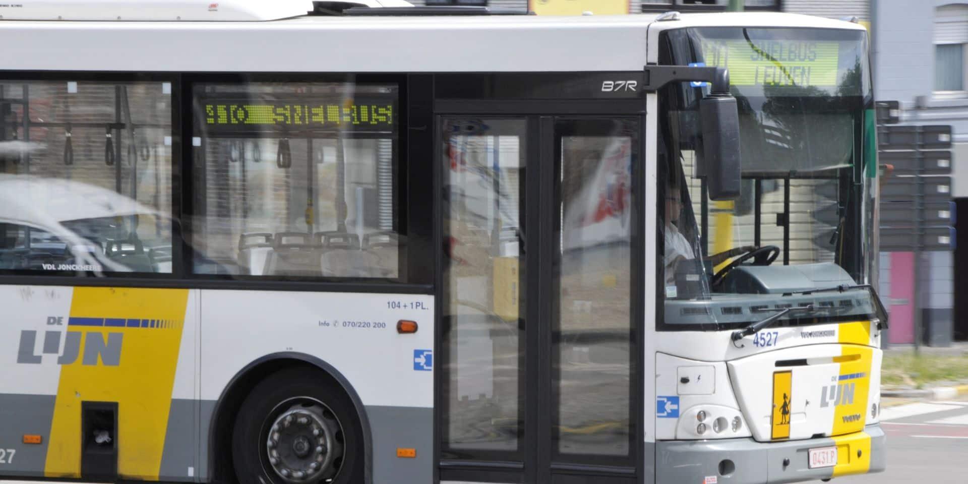 Une baisse de 62% de voyageurs dans les transports De Lijn
