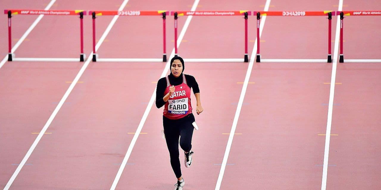 """Mariam Farid, sprinteuse qatarie acclamée à Doha: """"Je représente les femmes du monde arabe"""""""