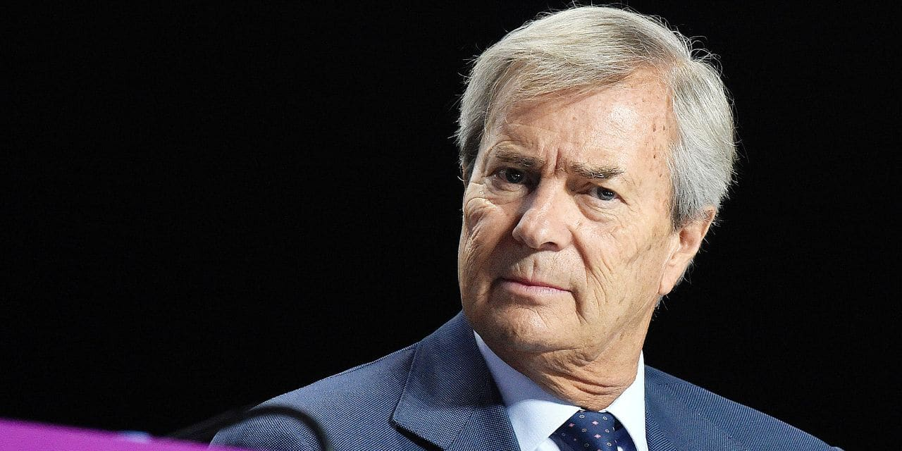 Chairman of the Supervisory Board of French media group Vivendi Vincent Bollore attends a Vivendi group's general meeting on April 19, 2018 in Paris. (Photo by ERIC PIERMONT / AFP)