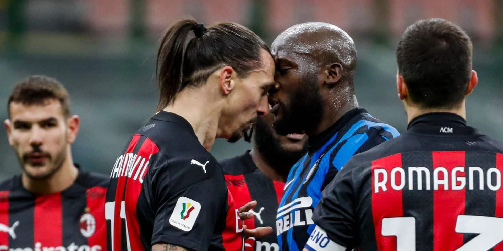 Lukaku et Ibrahimovic reçoivent une amende après leur altercation en Coupe