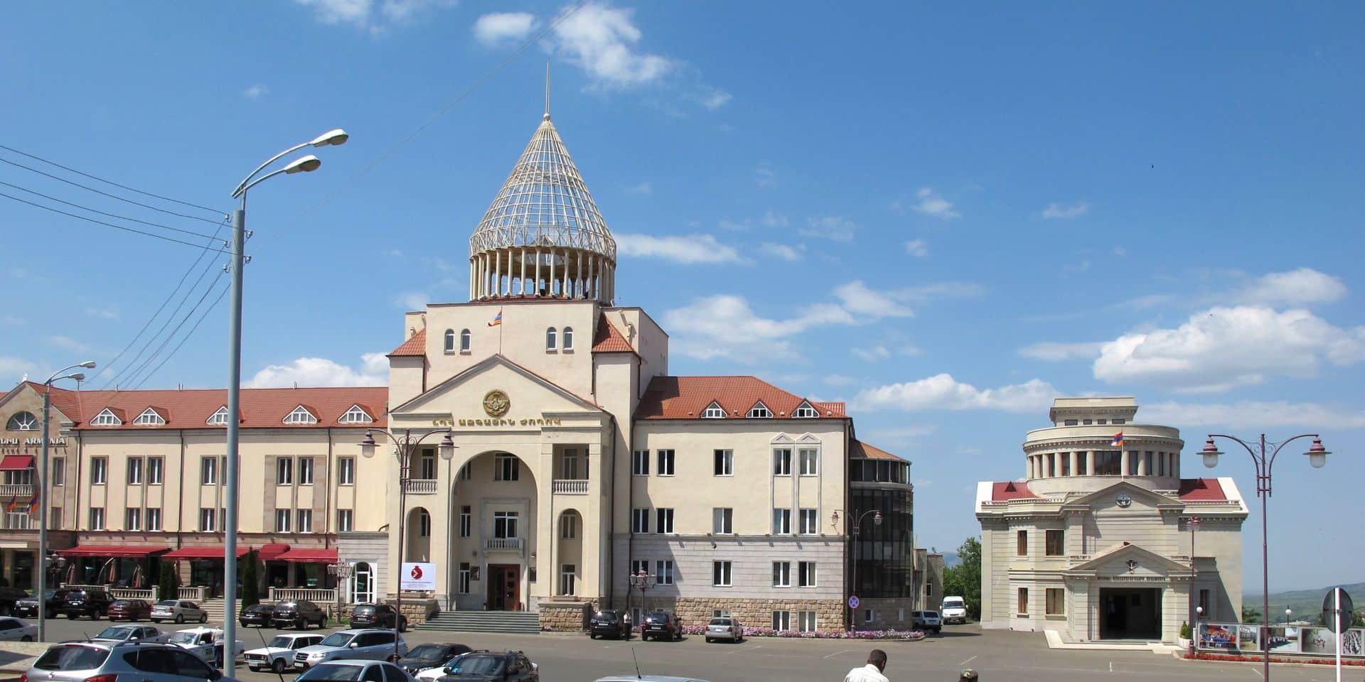 Stepanakert, la capitale de la région arménienne séparatiste du Nagorny Karabakh.