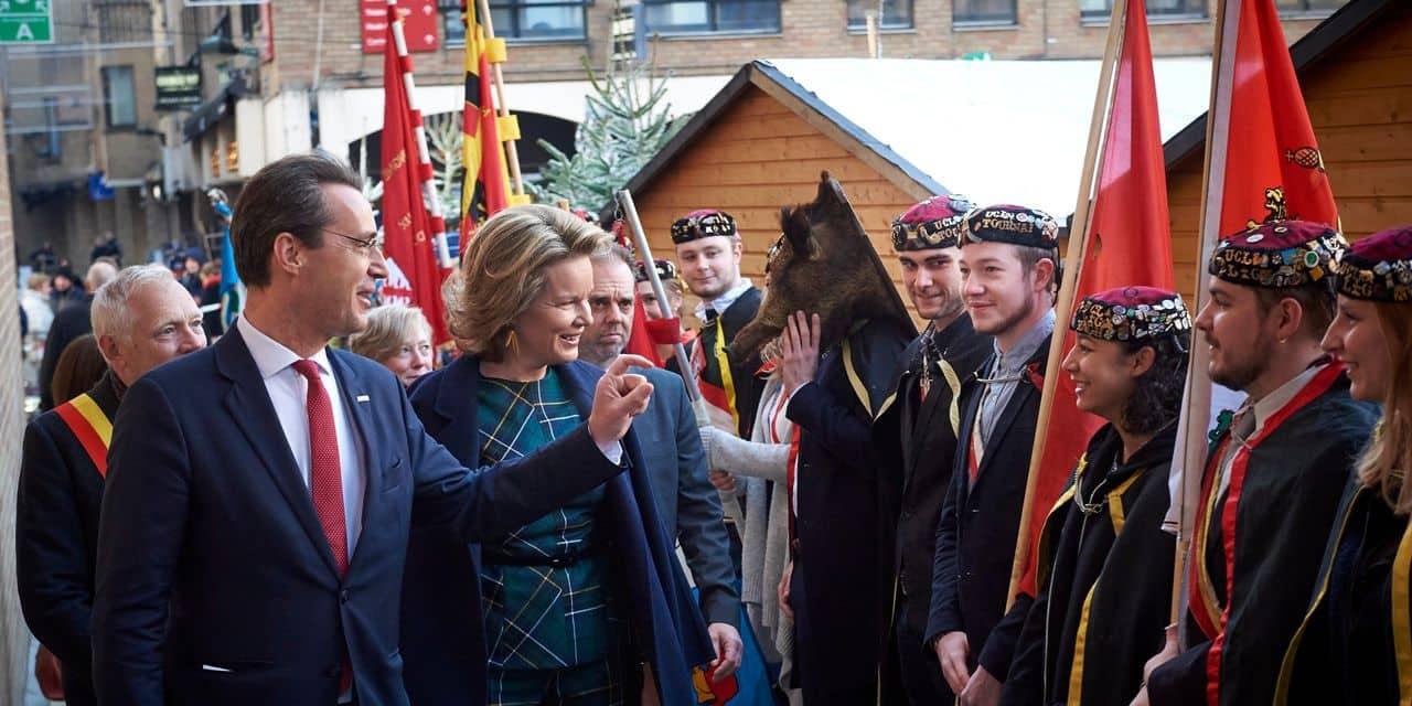Le reine Mathilde s'est rendue mardi à Louvain-la-Neuve, à l'occasion de la première journée dédiée à la transition par l'Université...