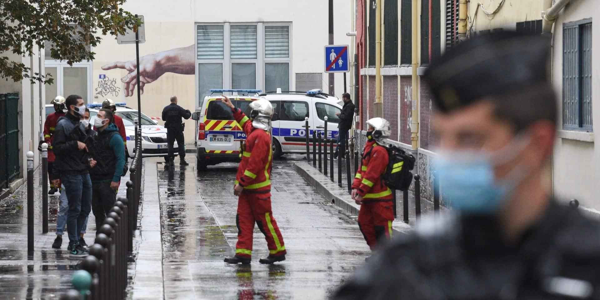 Quatre suspects interpellés pour l'attaque au hachoir devant les ex-locaux de Charlie Hebdo