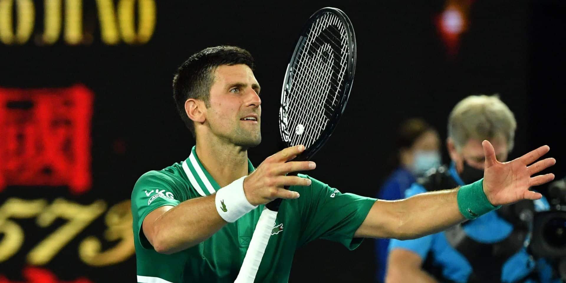 Open d'Australie: Novak Djokovic se défait d'Alexander Zverev pour retrouver l'inattendu Karatsev en demie