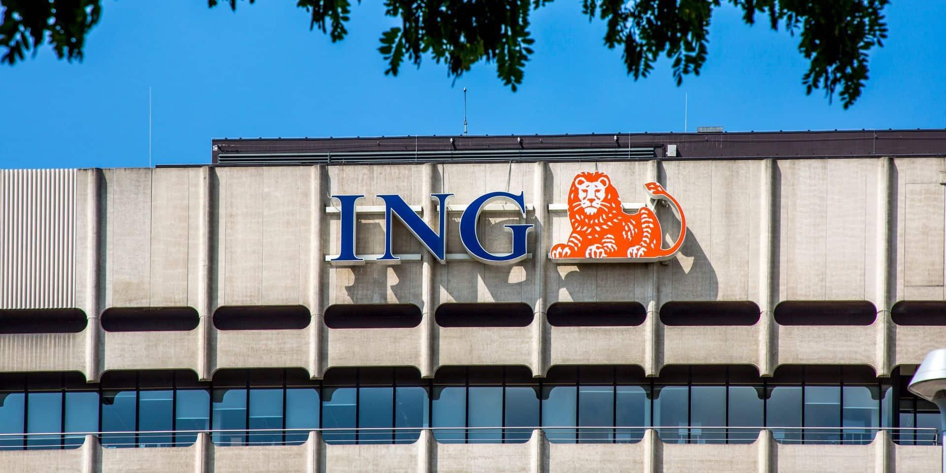 Le bénéfice d'ING Belgique en forte baisse en 2020