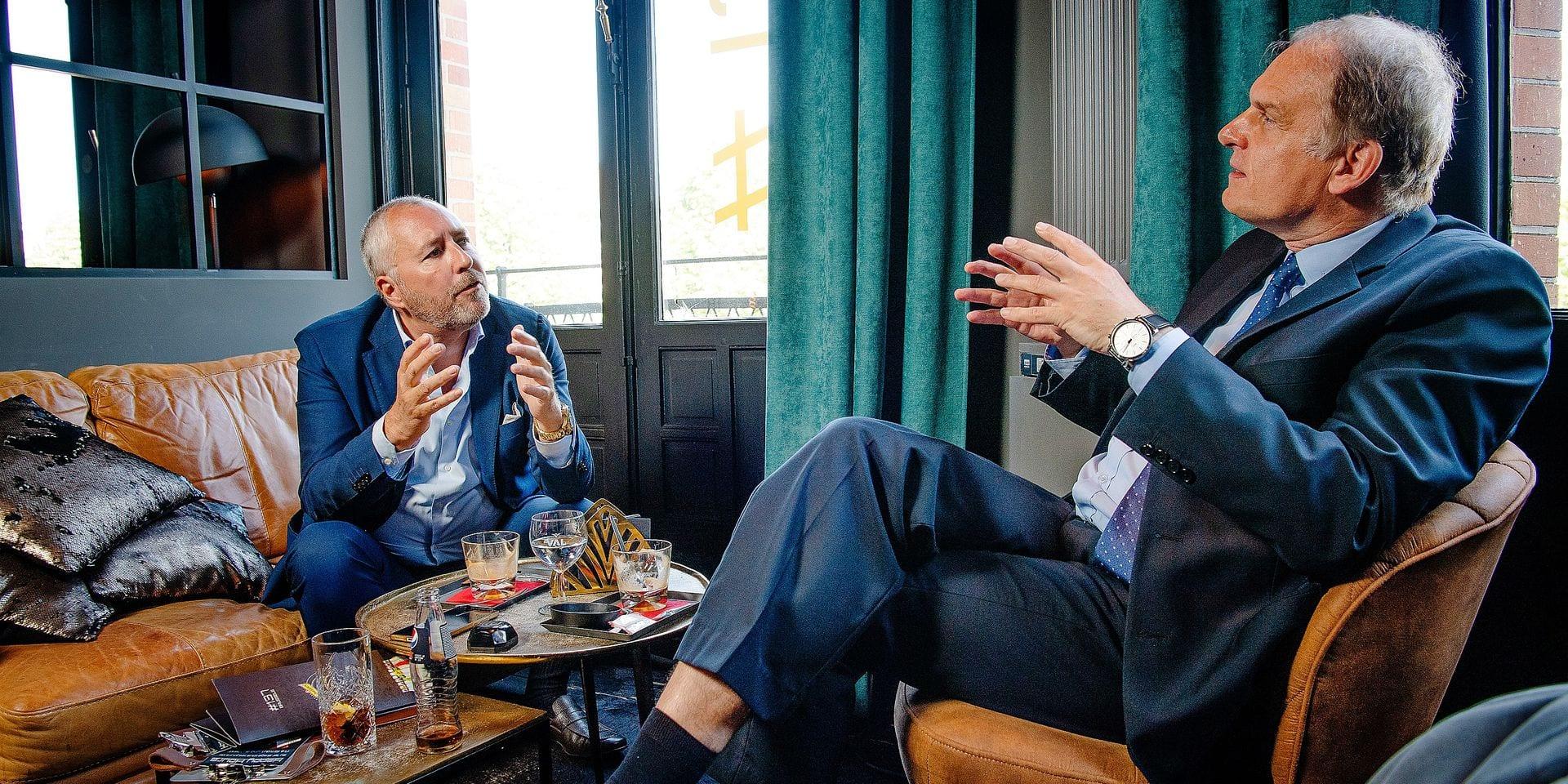 Bruxelles - Etterbeek: Restaurant - Le Jardin de Nicolas: Rencontre entre Alain Destexhe (Liste Destexhe) et Mischaël Modrikamen (PP) - Alain Destexhe metrra fin a l'interview