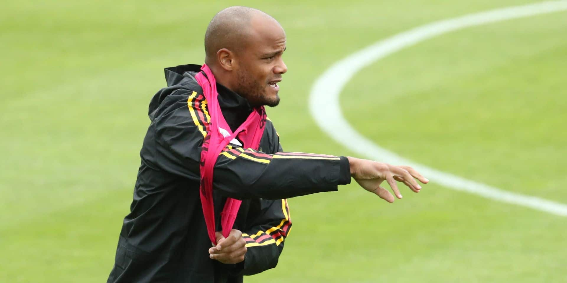 Belgium's Vincent Kompany pictured during a training session of Belgian national soccer team the Red Devils, Friday 07 June 2019 in Tubize. Tomorrow the team will meet Kazakhstan in an UEFA Euro 2020 qualification game, on Tuesday they'll play Scotland. BELGA PHOTO VIRGINIE LEFOUR