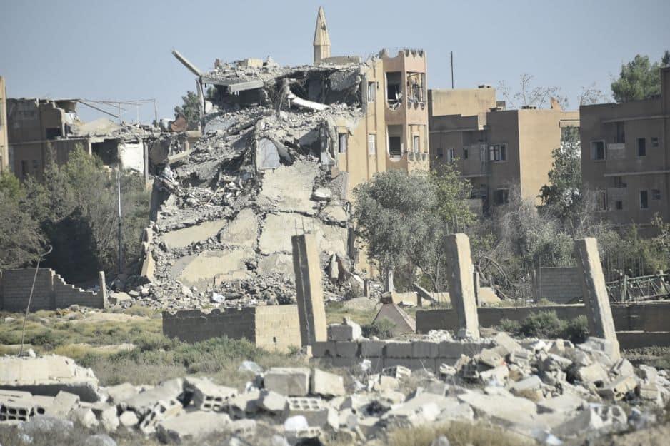 Des immeubles pulvérisés