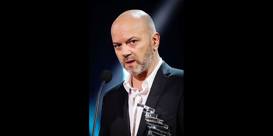 Presentator and Humorist Jerome De Warzee pictured during the third edition of the D6bels music awards for artists of Federation Wallonie-Bruxelles, Friday 26 January 2018. BELGA PHOTO VIRGINIE LEFOUR