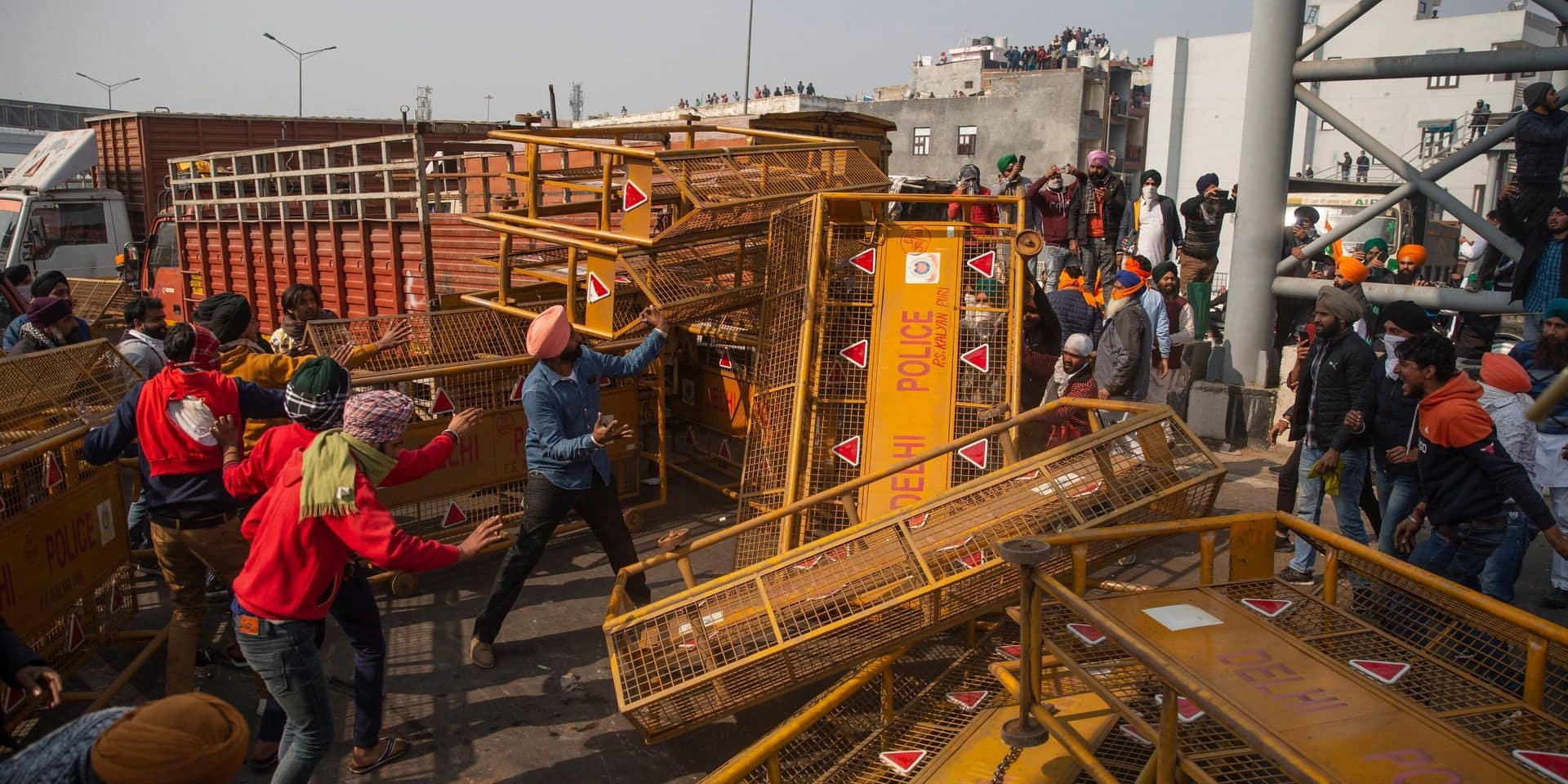 Sécurité renforcée à Delhi après la révolte de milliers d'agriculteurs indiens
