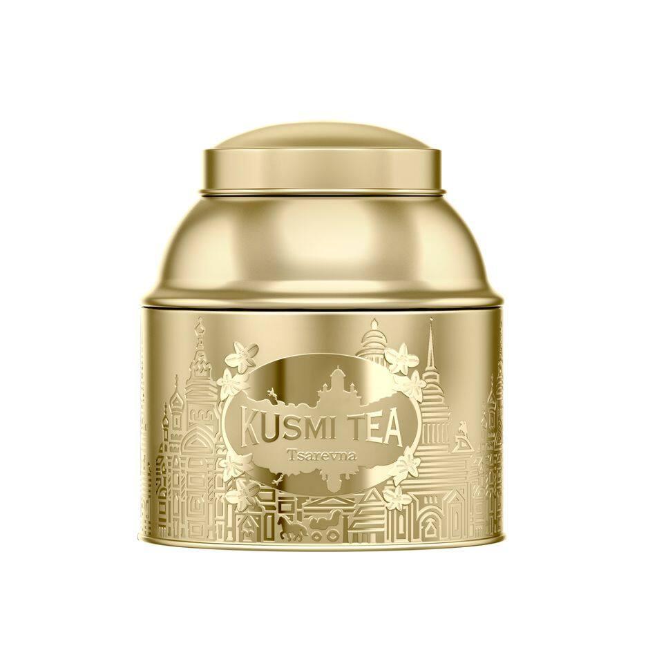 des parfums de ce thé noir aux épices, orange et bergamote. Tsarevna de Kusmi, boîte en métal de 200g, 26.50€