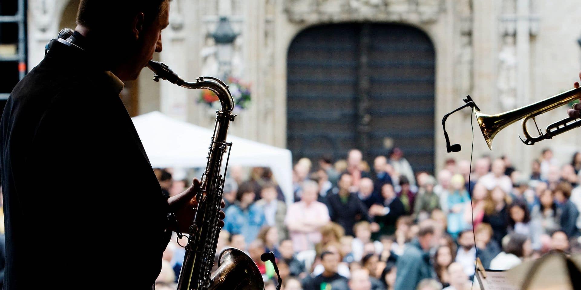 BRUSSELS JAZZ MARATHON 2008 Laurent Doumont soul band sur la Grand Place