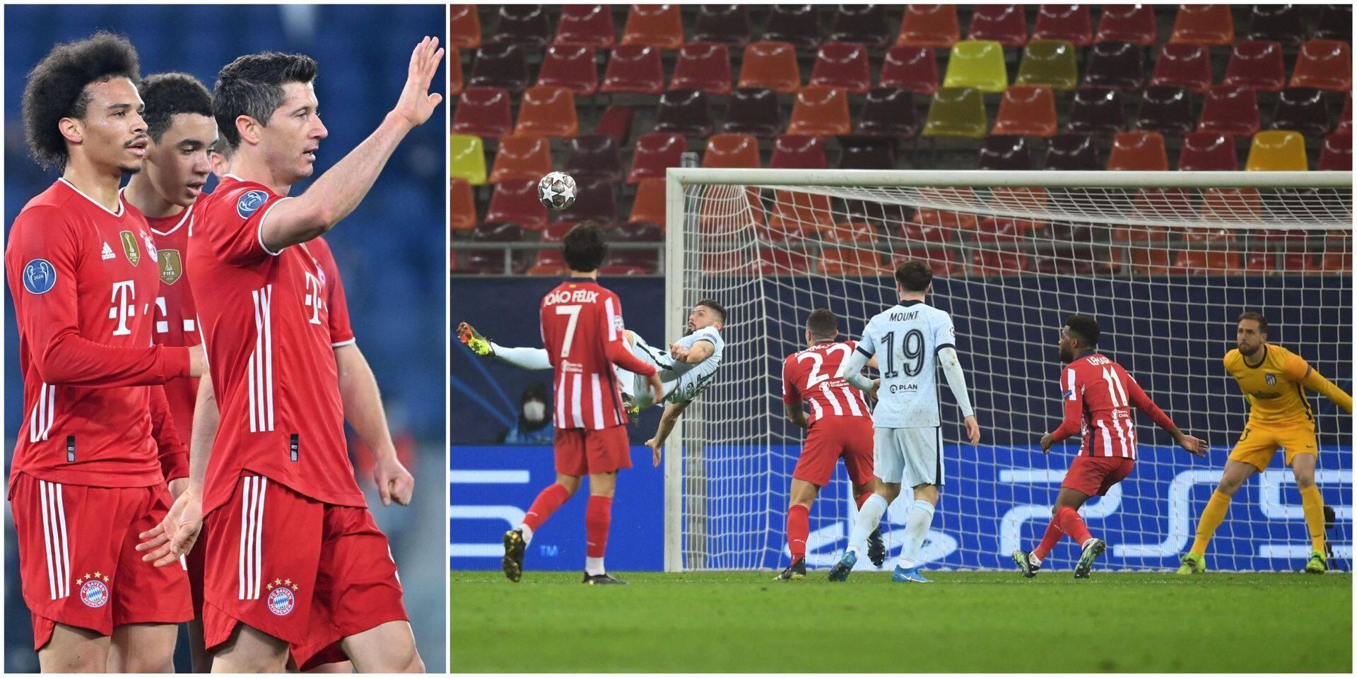 Ligue des Champions: un bijou de Giroud permet à Chelsea de s'imposer à l'Atletico, le Bayern écrase la Lazio et prend une large option sur les quarts