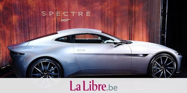 """The Aston Martin DB10, built exclusively for the latest James Bond film """"Spectre,"""" is displayed at the 2015 Los Angeles Auto Show in Los Angeles, California, November 19, 2015. The debut of the DB10 in the latest film continues a more than 50-year partnership between Bond and Aston Martin dating back to the iconic Aston Martin DB5 in the 1964 Bond film """"Goldfinger."""" AFP PHOTO / ROBYN BECK / AFP PHOTO / ROBYN BECK"""