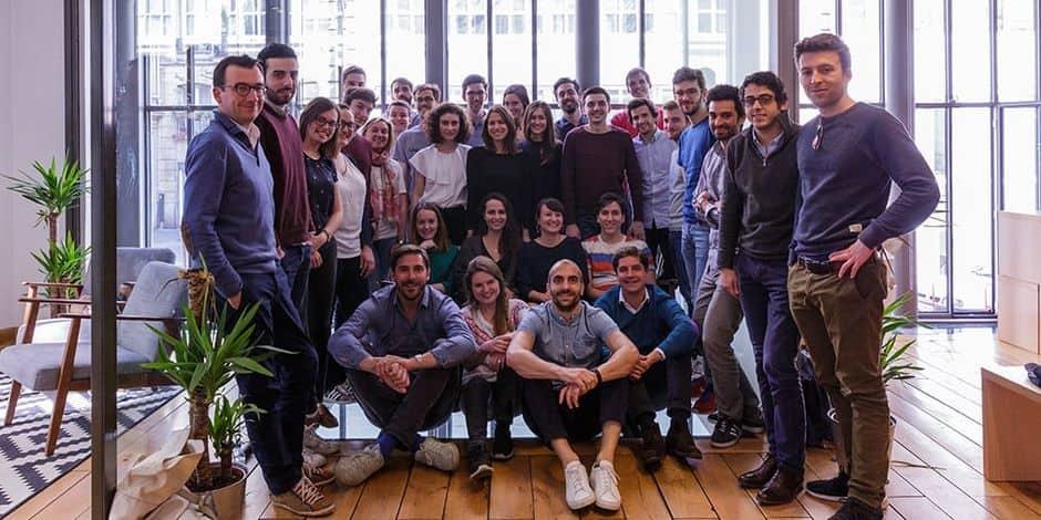 Thibaud Elzière, co-fondateur d'eFounders, est assis au premier rang, à gauche.