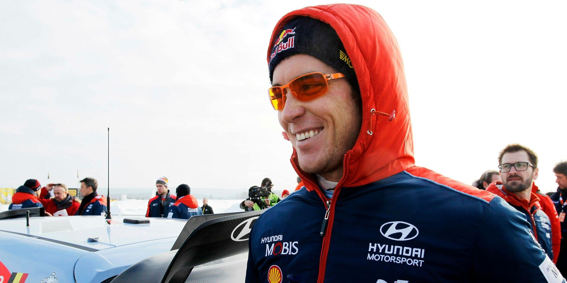 FILE - In this Saturday Feb. 17, 2018 file photo, Thierry Neuville of Belgium smiles during a stopover on day 3 of Rally Sweden 2018 as part of the World Rally Championship (WRC) in Torsby, Sweden. World champion Sebastien Ogier won the season-opening Monte Carlo rally on Sunday Jan. 27, 2019, beating main rival Thierry Neuville by just 2.2 seconds in the race's closest ever finish (Micke Fransson/TT via AP, File)