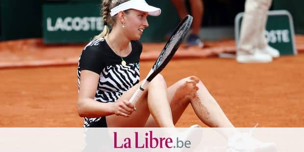 Belgian Elise Mertens looks dejected during the match between Elise Mertens (WTA 20) and Anastasija Sevastova (WTA 12), in the women's singles third round at the Roland Garros French Open tennis tournament, in Paris, France, Friday 31 May 2019. The main draw of this year's Roland Garros Grand Slam takes place from 26 May to 9 June. BELGA PHOTO VIRGINIE LEFOUR