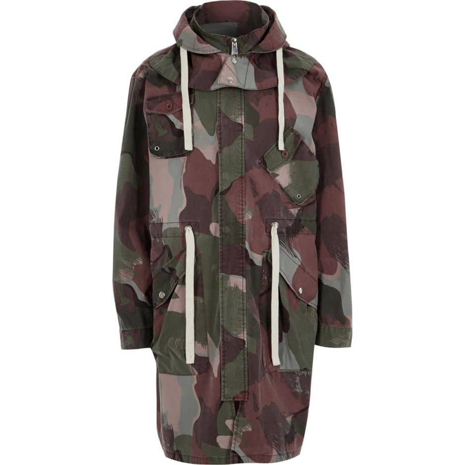 Camouflage:    River Island,    65 euros (soldé)