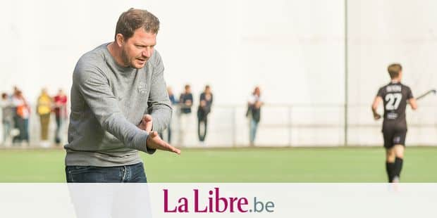 Leopold's head coach Robin Geens pictured during a hockey game between Royal Racing Club de Bruxelles and Royal Leopold Club, on day seveon of the 'Audi League' hockey competition, Sunday 21 October 2018 in Brussels. BELGA PHOTO JEAN-LUC FLEMAL