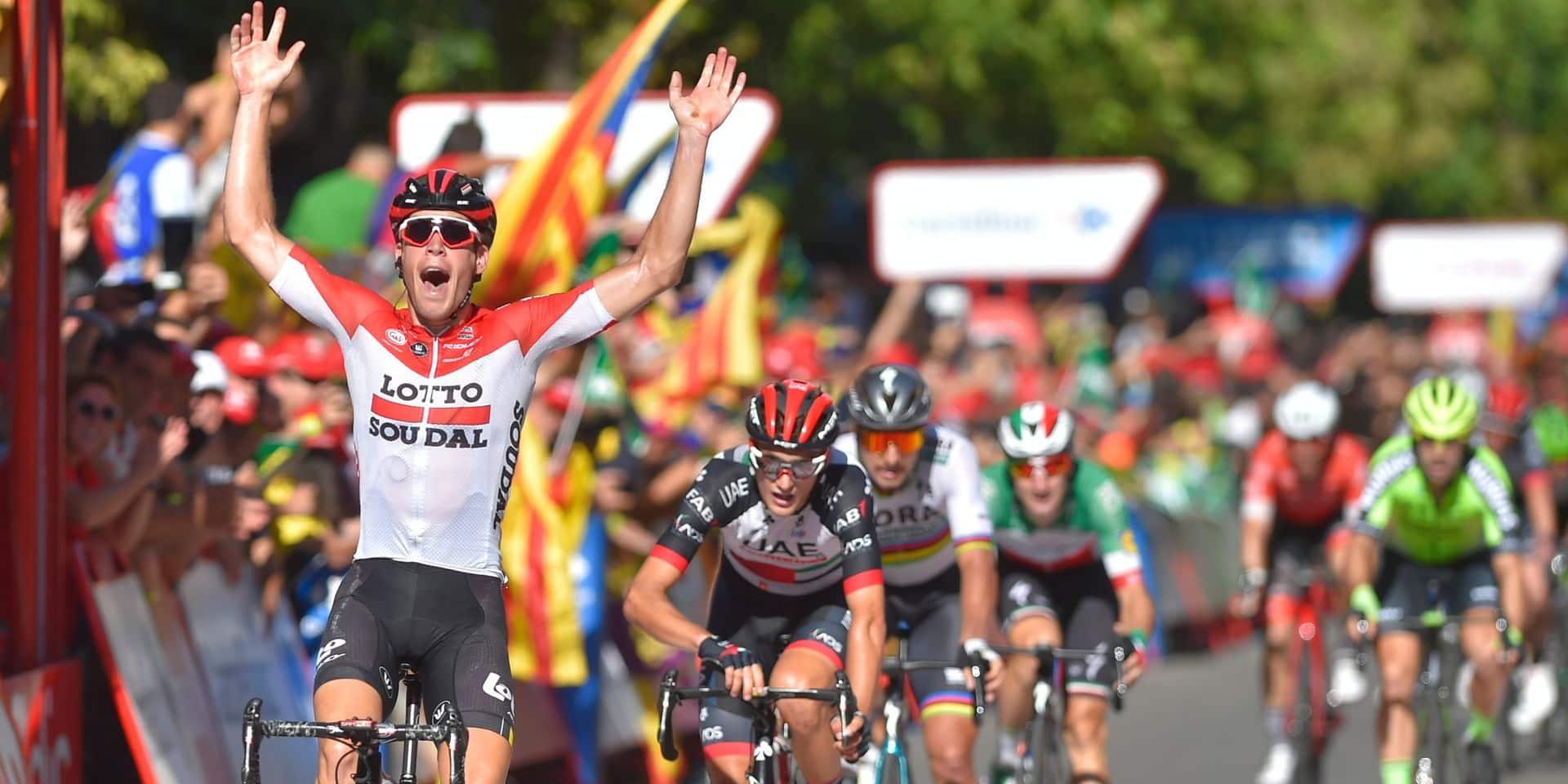 Vuelta: Victoire surprise du Belge Jelle Wallays, qui se joue des sprinters