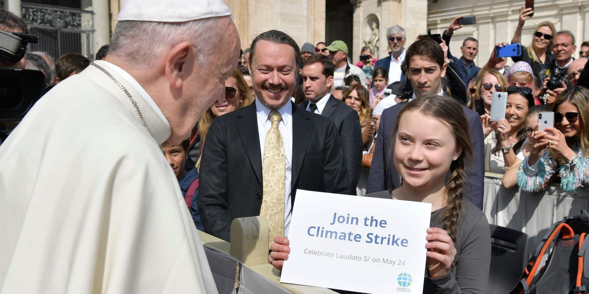 Greta Thunberg a rencontré le pape François